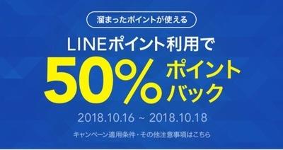 今日まで!LINEデリマ、使用ポイントの50%ポイントバック!