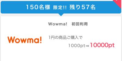 【ネズ吉捕獲対策】急げー!!ポイントインカムにWowma!1000円で出てます