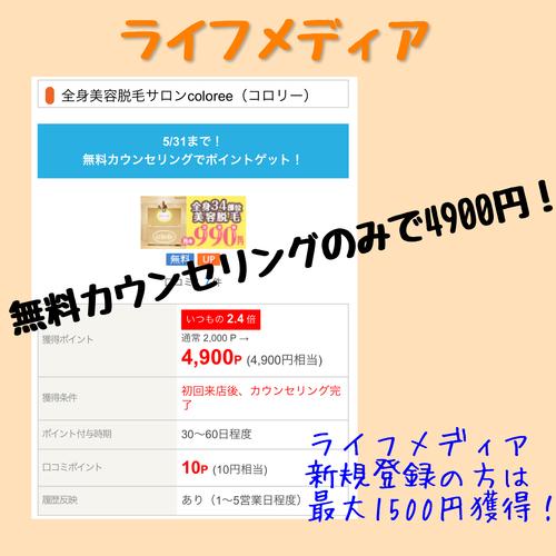 ライフメディア 脱毛サロン無料カウンセリングのみで4900円!
