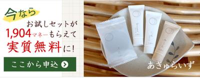 ドットマネースマホ版 「あきゅらいず お試し詰め合わせ」が実質無料で購入できさらに524円稼げます