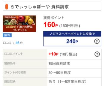 ライフメディア 「らでぃっしゅぼーや」資料請求のみで160円!しかも野菜ももらえます♪