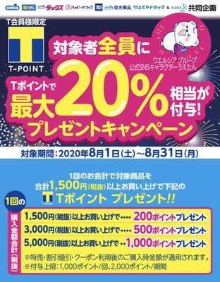 【8月】ウエルシア花王商品20%還元×ウエル活、d払いで実質約半額に!