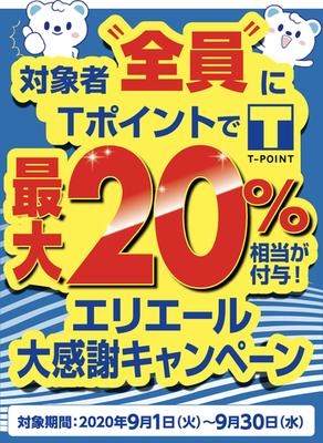 【9月】ウエルシア、エリエール商品最大20%還元!ウエル活で実質半額に!