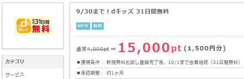 dキッズ、dヘルスケア手出しゼロで合計2900円!!