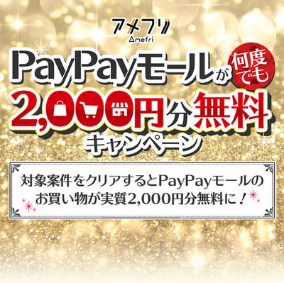 アメフリ(i2i) 案件利用とPayPayモール購入でお小遣い付き♪