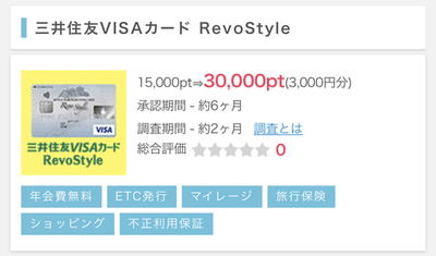 【追記】ポイントインカム 三井住友リボスタイル3000円やりました!20%還元キャンペーンも対象クレカ!