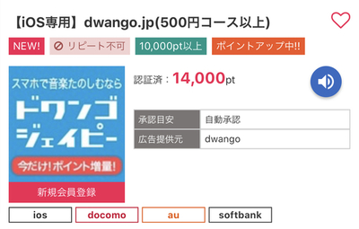 【リピート可】i2iポイント dwango.jp登録で850円のお小遣い♪